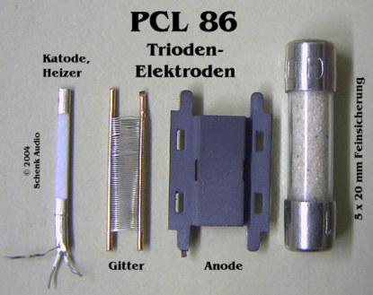 PCL86 - Triode - Elektroden