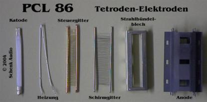 PCL86 - Tetrode - Elektroden