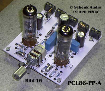 Endstufe mit 2 x PCL86 - Vorderansicht