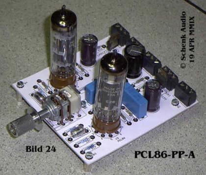 Endstufe mit 2 x PCL86 - rechte Seite
