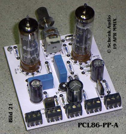 Endstufe mit 2 x PCL86 - Rückansicht