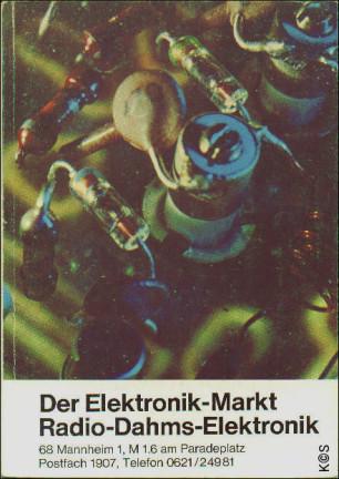 Radio-Dahms-Elektronik - Katalog 1969