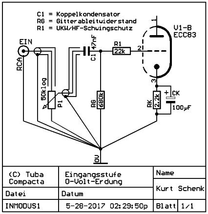 0-Volt-Erdung - Eingangsstufe