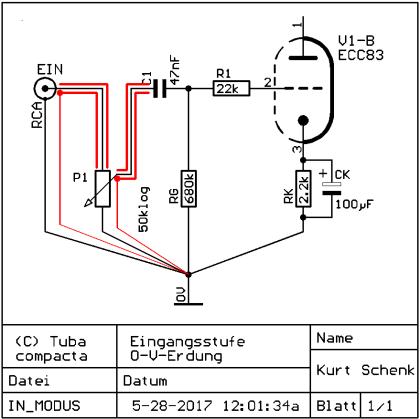 0-Volt-Erdung - Eingangsstufe, farbig