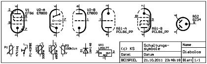 Röhrensymbole nach DIN 40 700 Bl. 2