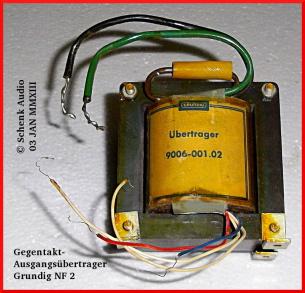 Grundig - Übertrager 9006-001.02 (2 x EL84, 5 Ohm Ausgang) für Hi-Fi-Stereo-Verstärker NF 2 - Schaltung in FUNKSCHAU 1962 / Heft 23