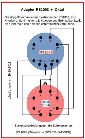 RS1003-Adapter auf Oktal (EL34)